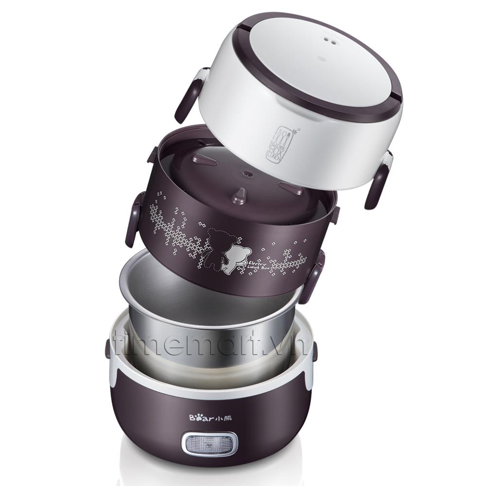 Hộp cơm hâm nóng inox hút chân không Bear DFH - S2123