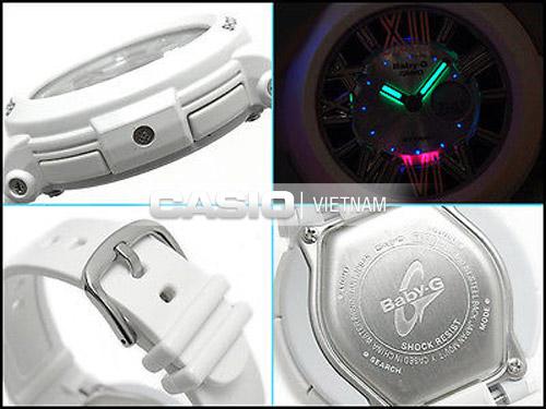 đồng hồ tích hợp đèn neon phát sáng khi bật đèn led